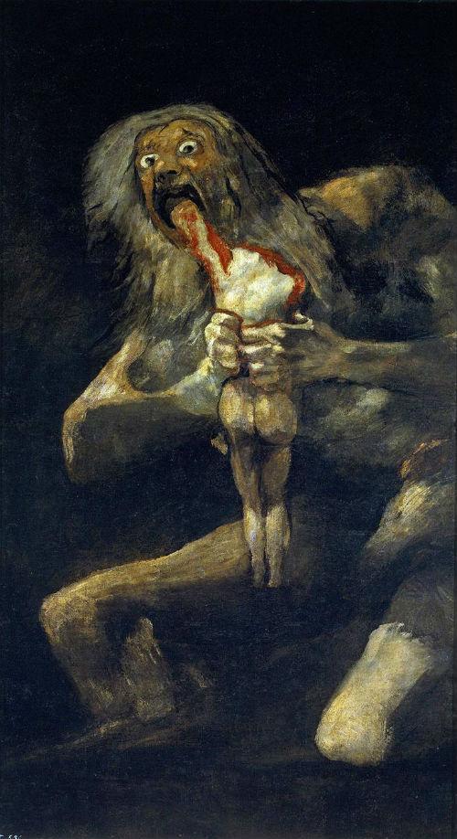 Francisco Goya, Çocuklarından Birini Yiyen Satürn