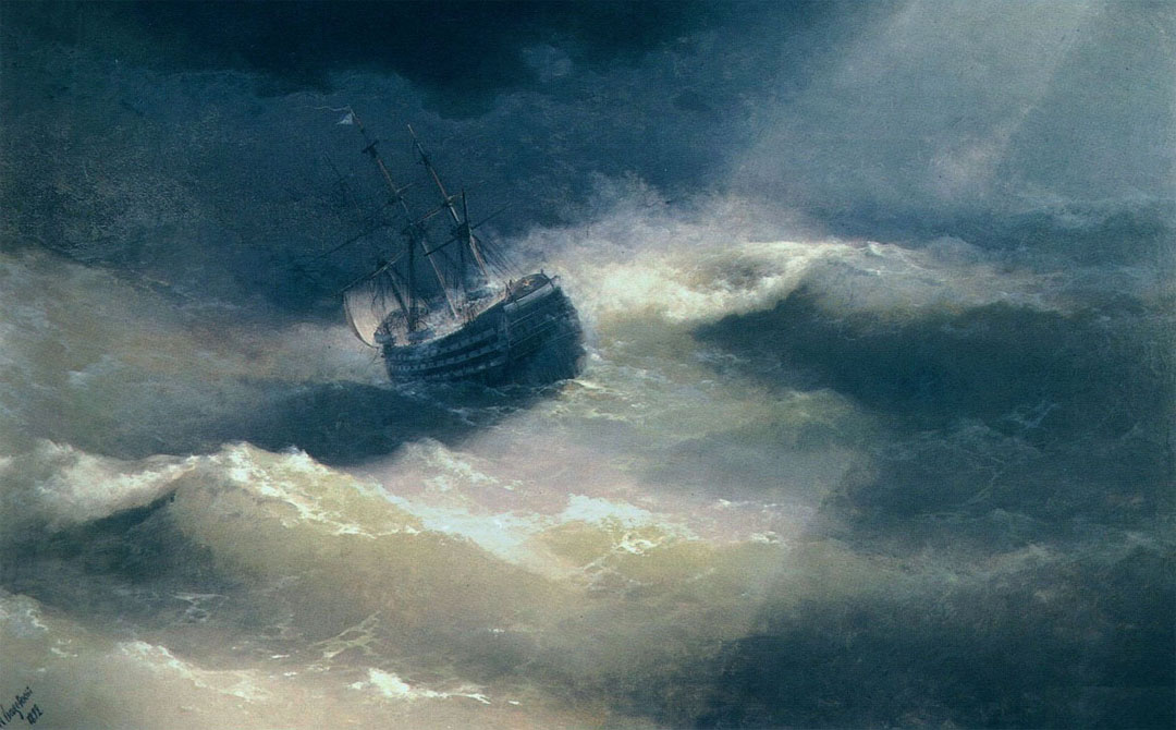 The Mary Caught in a Storm