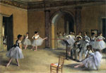 Le foyer de la danse a l Opera de la rue Le Peletier