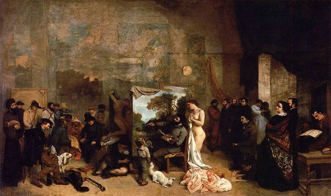 The Painter`s Studio; A Real Allegory