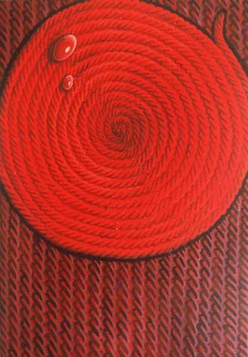Kırmızı damlalı kompozisyon